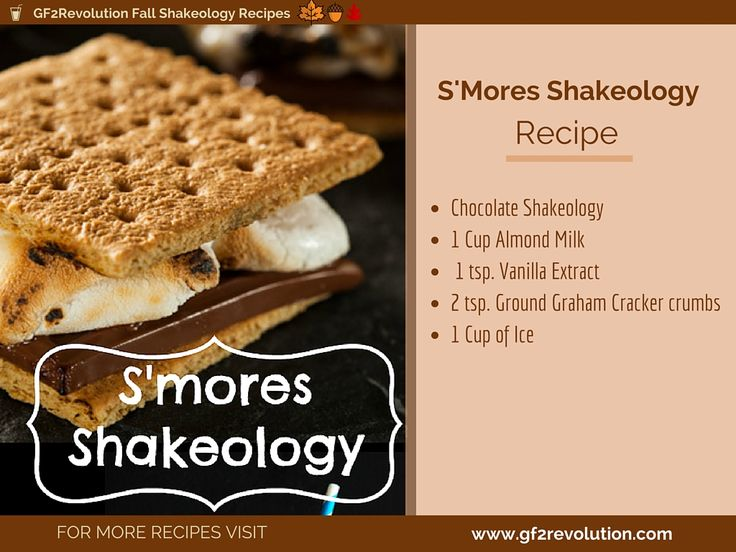 On a #Smore kick but can't have the coffee? Try this non-caffinateted version of the #Fall SMORE @shakeology recipe.
