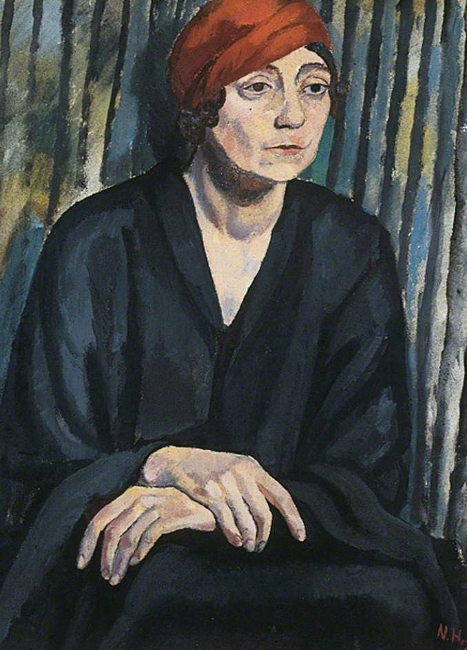 Lady Constance Stewart-Richardson (b.1882) by Nina Hamnett.     Date painted: 1917     Oil on canvas, 63.5 x 48.3 cm     Collection: The Stanley & Audrey Burton Gallery, University of Leeds.
