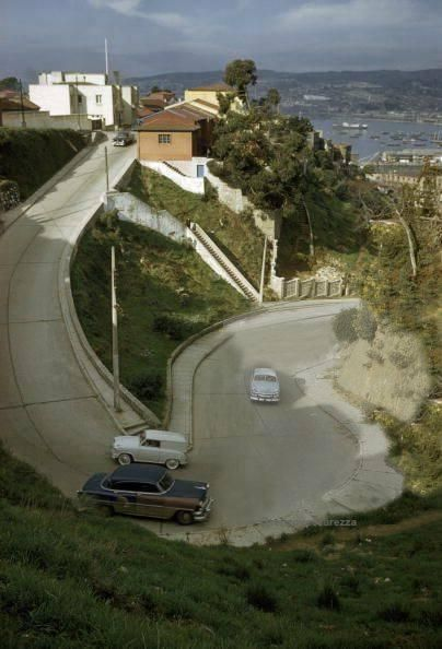 1960 - Playa Ancha, vista calle Orompello