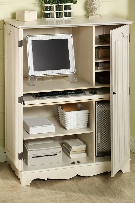 Beautiful Computer Cabinet Armoire Desk Workstation