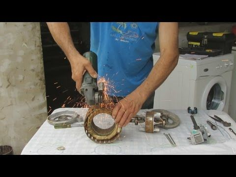 Construccion de un Generador Electrico Casero.----How to Make a Homemade Electric Generator - YouTube