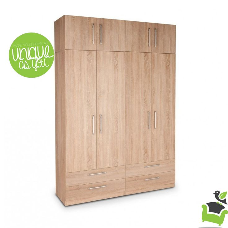 Holborn Plus 4 Door Wardrobe With 4 Drawers #Bedroom #wardrobes