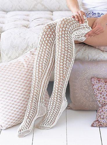 3. Favorite summer knitting/crochet pattern - Ravelry: #31 Lace Stockings pattern by Mari Muinonen / tikru-
