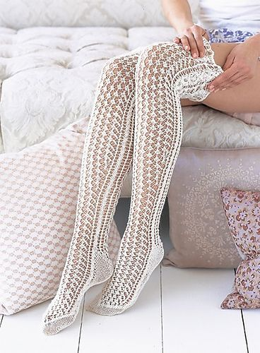 3. Favorite summer knitting/crochet pattern - Ravelry: #31 Lace Stockings pattern by Mari Muinonen / tikru