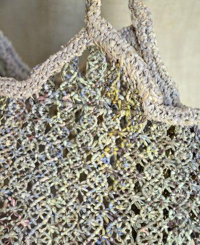 Sophie Digard / scott raffia handbag - close up