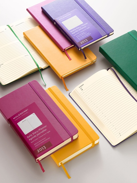 2013 coloured diary #moleskine #notebook #diary