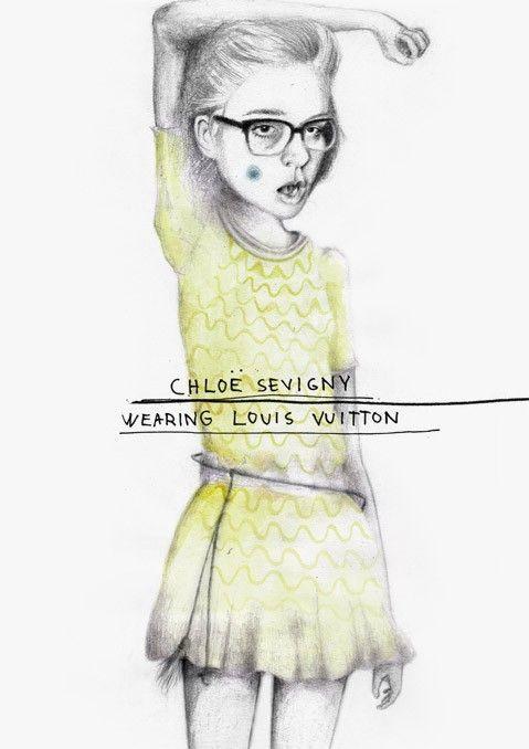 chloë sevigny wearing louis vuitton