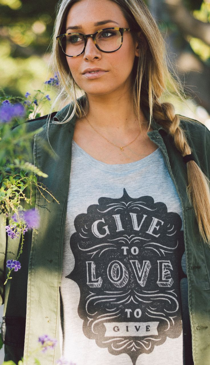 GIVE to LOVE to GIVE. Stock up on tees and tanks that give back & layer them up this fall! Giving back is the new black... #Sevenly
