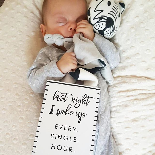 WEBSTA @seriously_milestones I hate it when they're awake all night and rub it in by sleeping all day! 😩. . . . (P.S this ones a twin too, so I bet her sister did the opposite...).