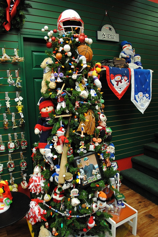 Sports Themed Christmas Tree At The Santa Claus Christmas