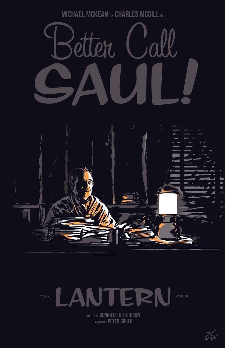 """Better Call Saul season 3, episode 10, """"Lantern,"""" poster by Matt Talbot"""