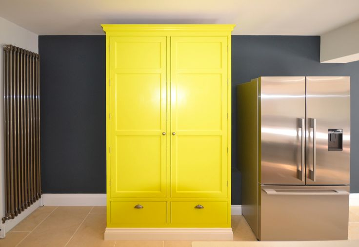 Never be afraid to add a pop of colour to your home. We love how this gorgeous lemon yellow cupboard has created a stylish and modern twist on a country home. Do you prefer colourful interior design or more neutral tones?