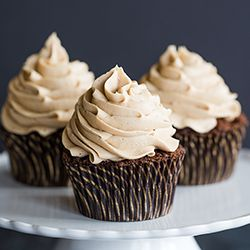 These mocha cupcakes are coffee and espresso-infused, light on the chocolate, and topped with an espresso-spiked buttercream frosting.