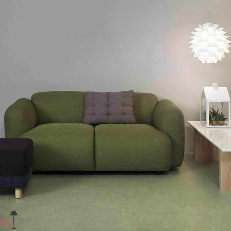 Swell by Normann Copenhagen is a minimalistic sofa for the living room with a playful, light-hearted feel.
