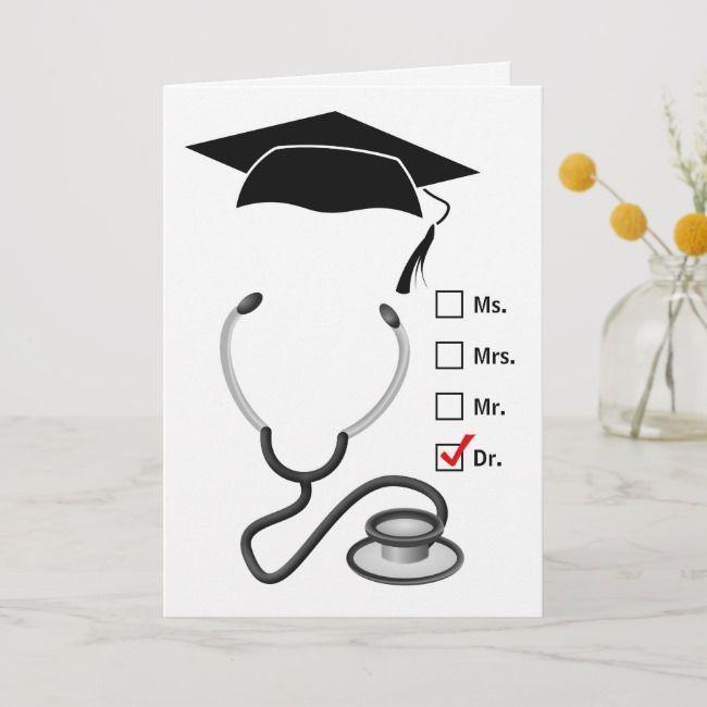 Medical Graduate Congratulations New Doctor Card Zazzle Com