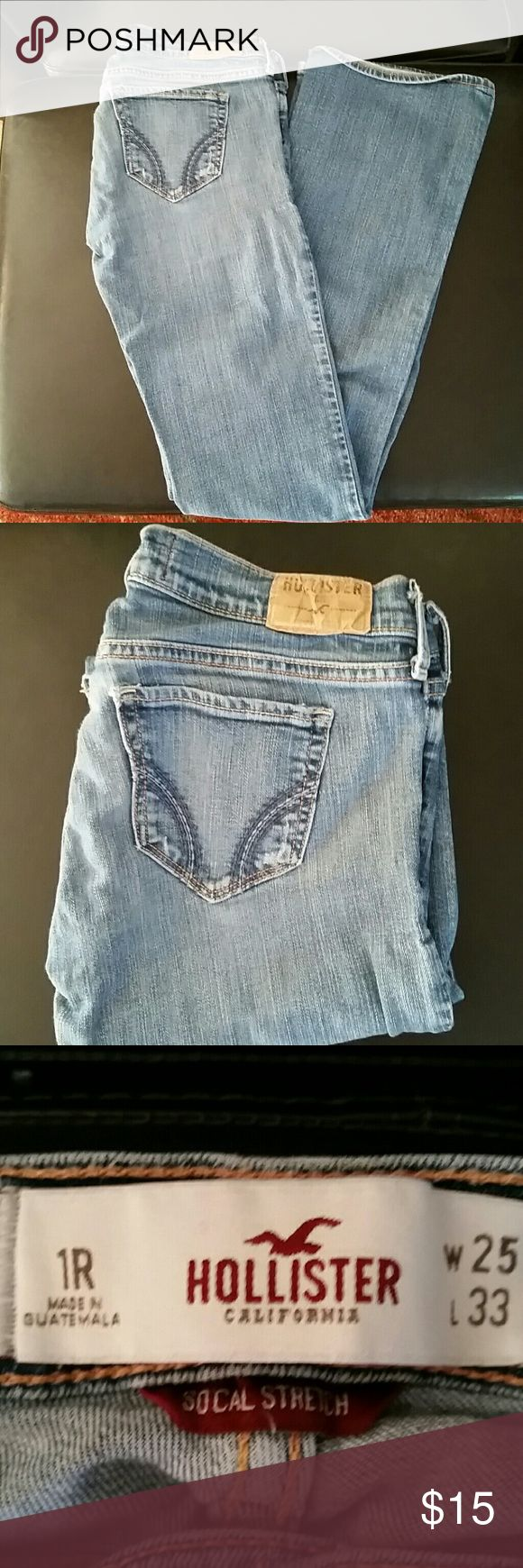 Hollister jeans Hollister jeans . They are a size 1 regular. 25 waist, 33 length. Hollister  Pants Boot Cut & Flare