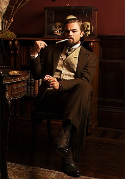 Leonardo DiCaprio as Calvin Candie in Quentin Tarantino's 2012 film, Django Unchained.