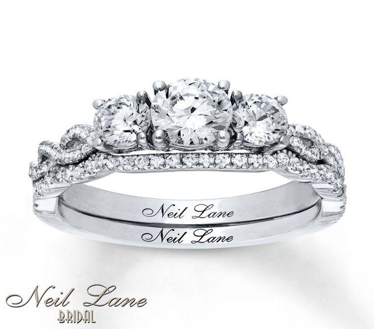 Jared Neil Lane Bridal Set 11/3 ct tw Diamonds 14K