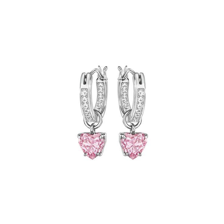 """Swarovski """"ATTRACT"""" Earrings #Earrings #Crystals #Pink #SpringSummer2016 #JewelleryDesigner #Swarovski #Jewelry #Heart #Love"""