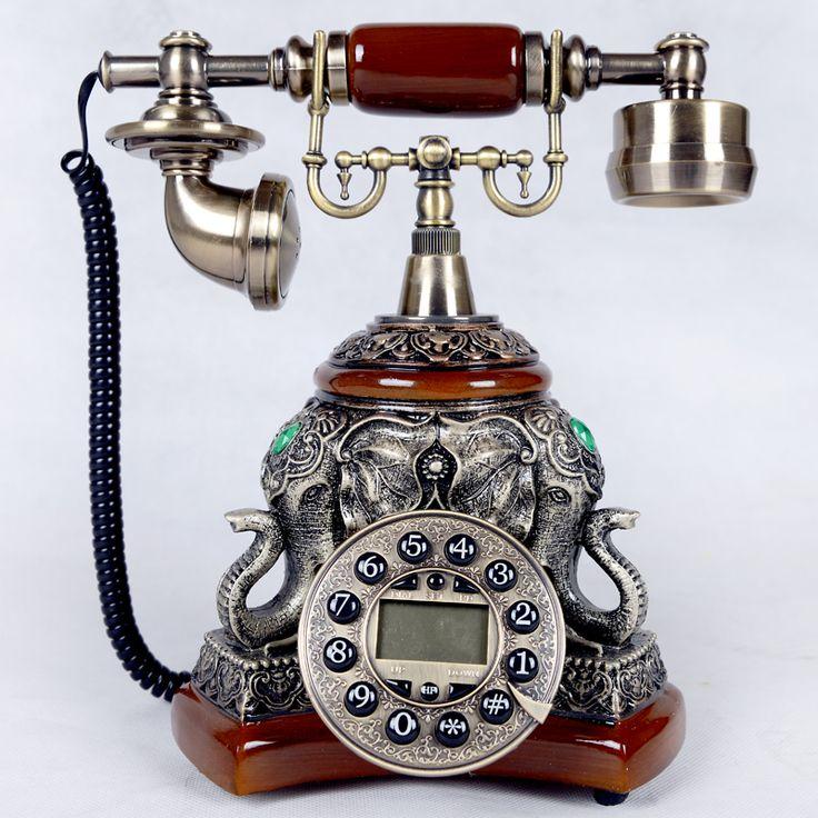 Fashion antique telephone antique old fashioned landline telephone vintage fashion technology phone lucky ruyi