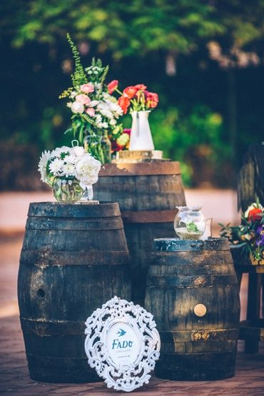 Wine barils in Portugal. Fado wedding styling by Como Branco Wedding Concept (www.comobranco.com)