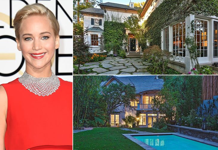 Jennifer Lawrence – $8 Million, Beverly Hills Hunger Games star Jennifer Lawrence's real estate property used to be the home of singer Jessica Simpson. The $8-million home that is located in Beverly Hills has five bedrooms, six bathrooms, and a lap pool in the backyard. Her home is very cozy and gives the right privacy she …