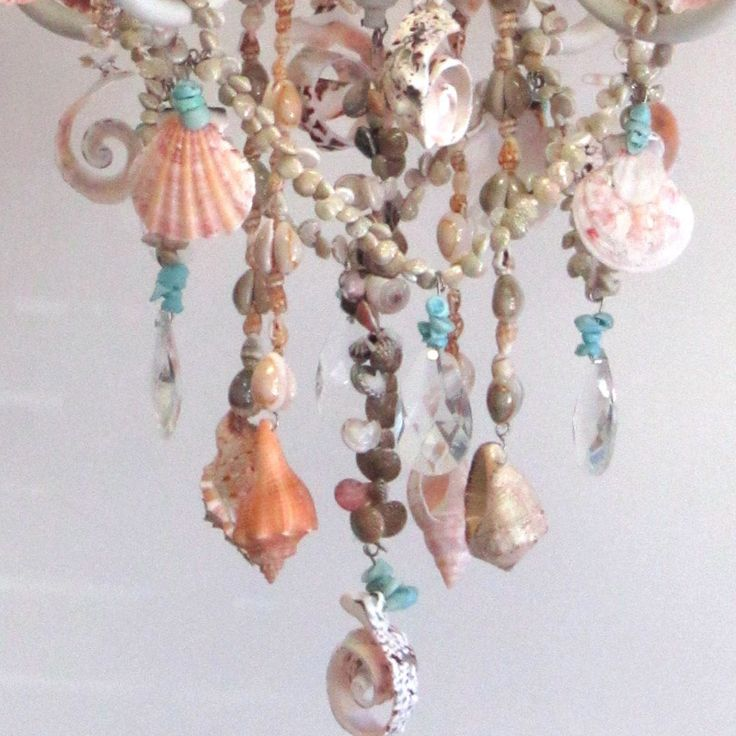 Ariel Four Arm Sea Shell Chandelier - RosenberryRooms.com