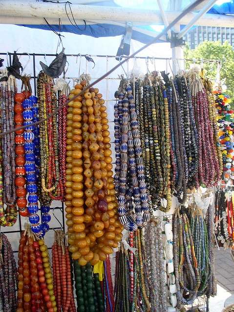 beads...beads....beads..  http://www.flickr.com/photos/dabls/4172130766/
