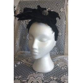 Goth Black Feathers And Flower Hair Fascinator Headband Vintage Inspiration