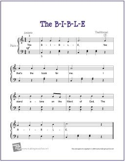 FREE B-I-B-L-E Sheet Music
