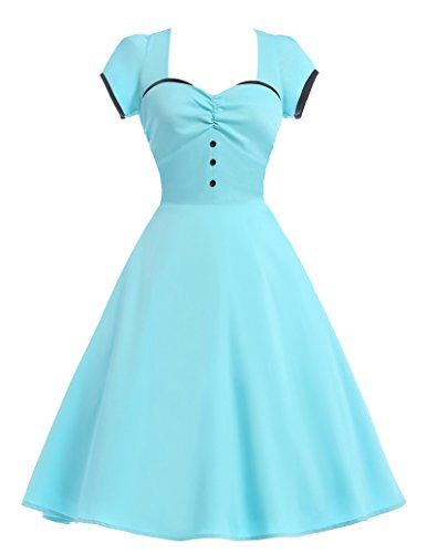 Sweetheart Vintage Dress 50s Style for Women Size S CL890...