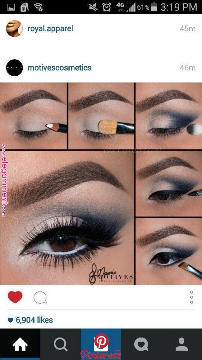 Navy Blue Navy Blue Eye Makeup Summer In 2019 Pinterest