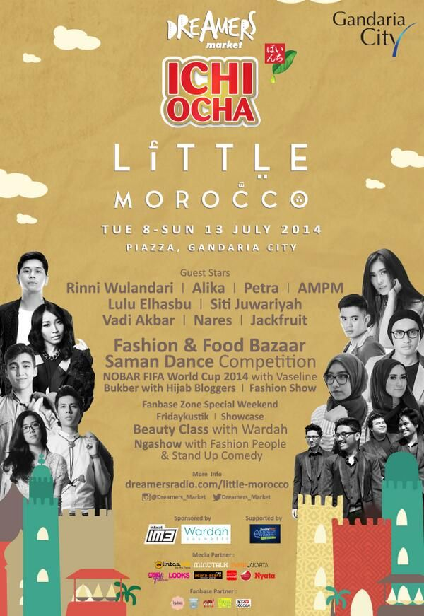 Ichi Ocha Little Morocco, 8 - 13 July 2014 at Gandaria City @GandariaCity