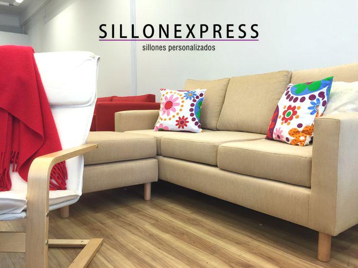 Esquinero Theo tapizado en chenille Paris de promo! Sillonexpress Argentina