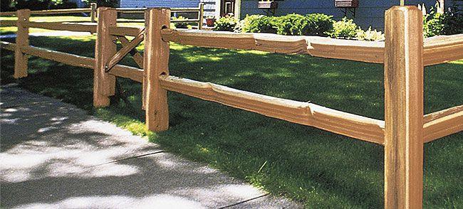 How to build a split rail fence