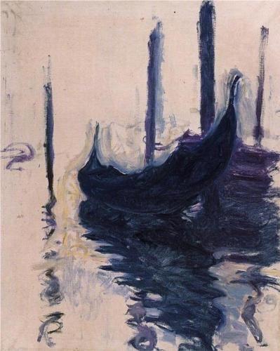 Gondola in Venice - Claude Monet