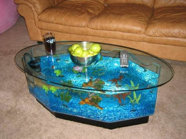 Best Aquarium Tables Images On Pinterest Coffee Tables Fish - Acrylic aquariumfish tank clear round coffee table with acrylic