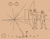 Pioneer plaque - tattoo ideas