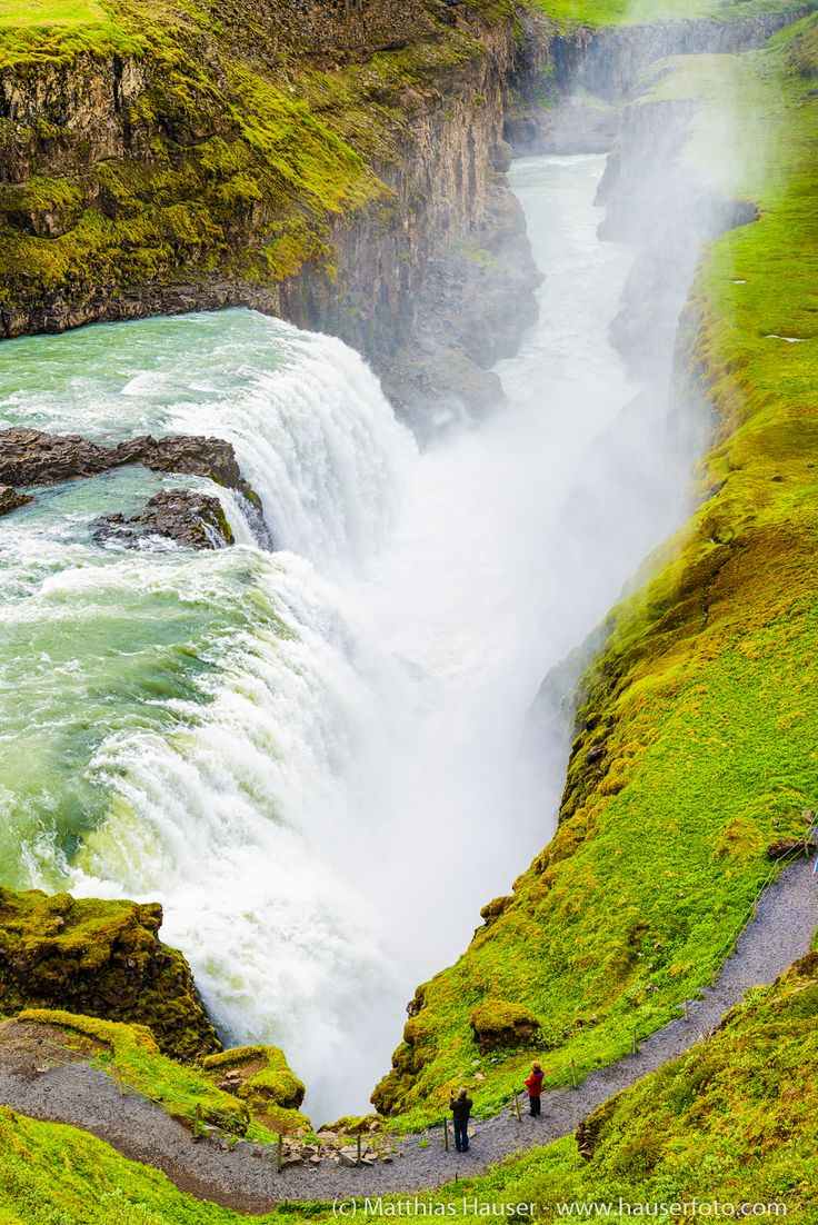 Gullfoss waterfall Iceland, one of the most amazing falls in the world, part of the Golden Circle.
