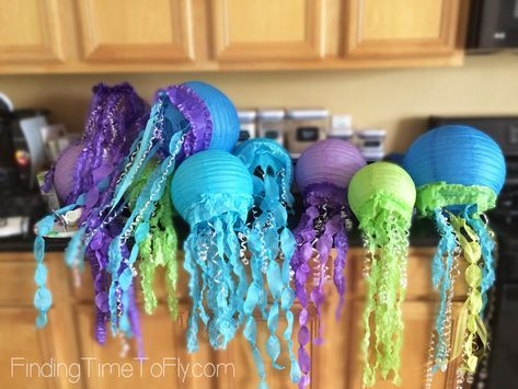 Just a few of these Jellyfish Lanterns will make a big impact on your party deco…