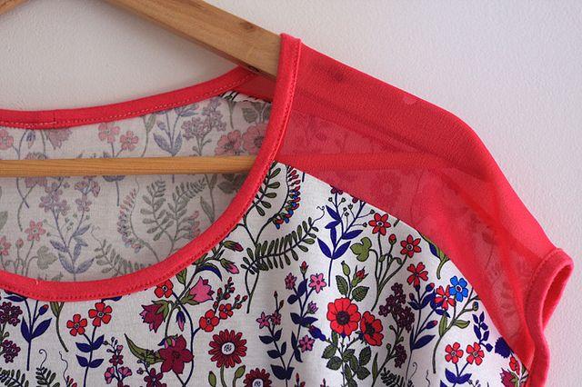 Contrast Shoulder Tee by ohbabylee, via Flickr
