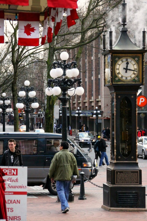 Steam Clock - Gastown, Vancouver. . . . I miss Canada, especially in summer!