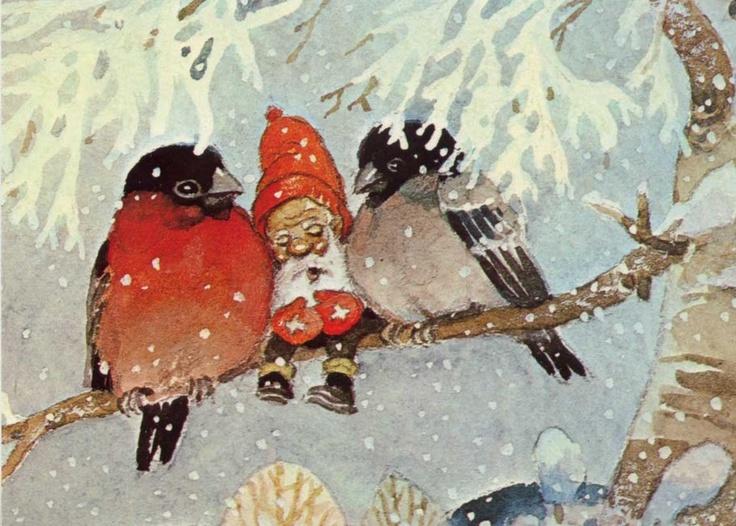 Летием, новогодние открытки гном