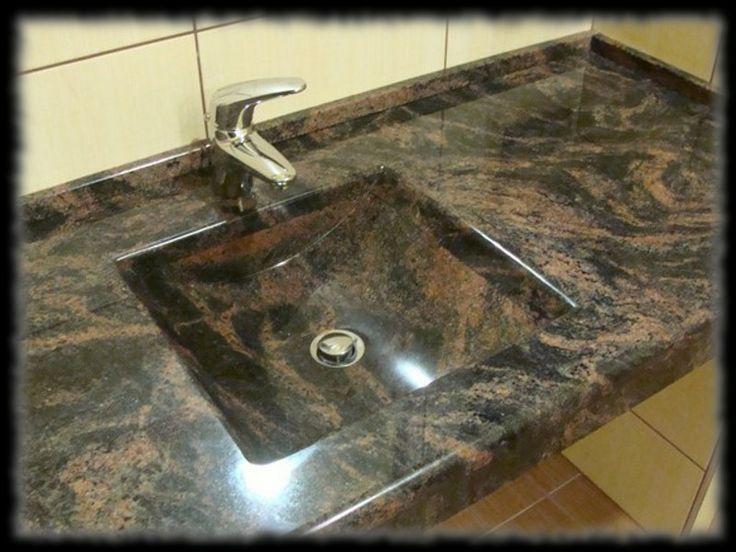Épületmunkák - fürdőszoba pult gránit mosdókagylóval