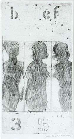 Everytime different by Jiri Balcar,  etching