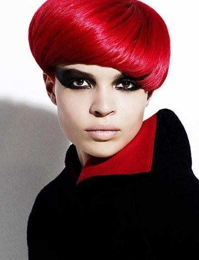 Avant Garde Red Bob With Stunning Bangs A Woman S World