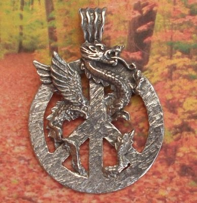 11 best peace sign jewelry peace sign pendants images on pinterest small peace dragon peace sign jewelry pendant from mandarava audiocablefo