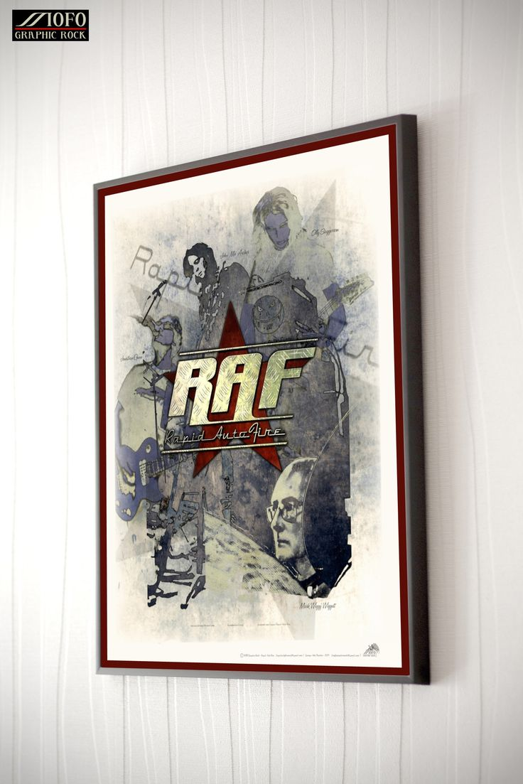 Poster created for the band 'Rapid Auto Fire on the occasion of their show-case gig at the George Arts Theater, but never used.