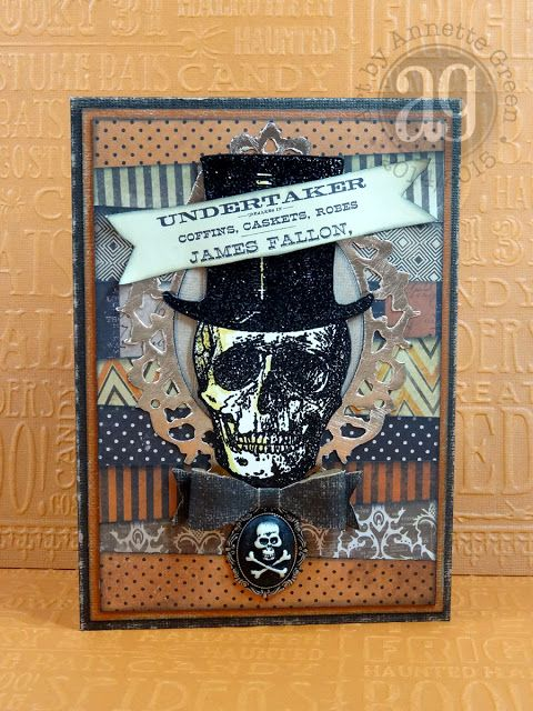 Annette's Creative Journey: The Undertaker Is In. Halloween Card.