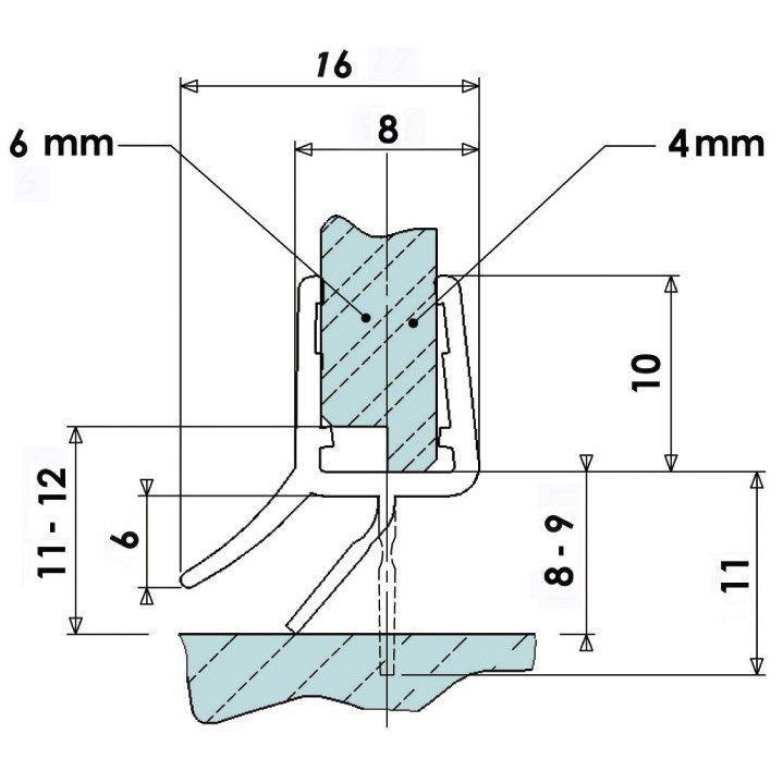 Joint D Etancheite Double Levre 100 Cm Etancheite